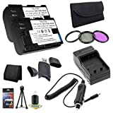 Two LP-E6 Lithium Ion Replacement Batteries w/Charger + Memory Card Reader/Wallet + Deluxe Starter Kit for Canon EOS 60D 7D 5D Mark II 5D Mark III Digital SLR Camera DavisMAX Bundle