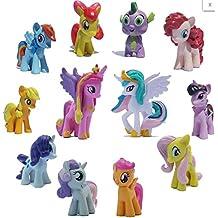 Kool KiDz Set of 12 Pony PVC Toy Cake Topper Twilight Sparkle Figure Set