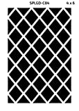 Green Decore Diamond Outdoor/Light Weight/Reversible Eco Plastic Rug, (4 x 6, Black/White)