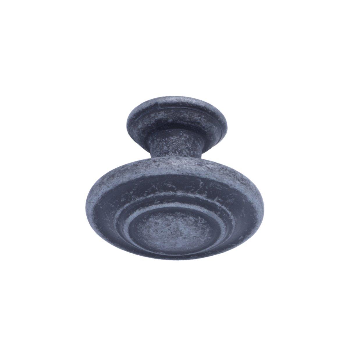 con dise/ño de aro superior 3,17 cm de di/ámetro Pomo de armario tradicional Basics Bronce antiguo Paquete de 50