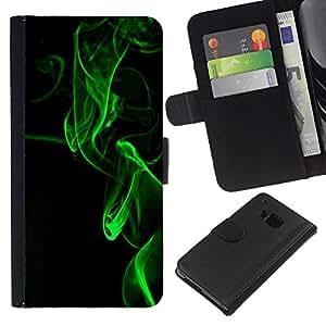 For HTC One M9 Case , Dark Meaning Deep Black Vignette - la tarjeta de Crédito Slots PU Funda de cuero Monedero caso cubierta de piel