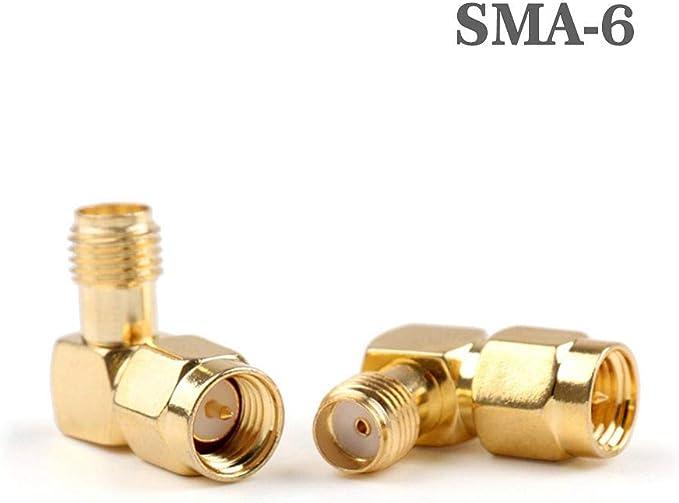 Krs 2xsma 6 90 Winkel Adapter Stecker Auf Buchse Verbinder 2x 90 Sma Stecker Rp Sma Buchse Küche Haushalt