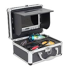 "Eyoyo Original 30m Professional Fish Finder Underwater Fishing Video Camera 1000TVL HD CAM 7"" Color HD Monitor with Anti-Sunshine Shielf"
