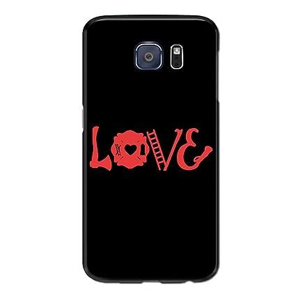 Amazon.com: Love Axe Firefighter Case for Samsung Galaxy S7 ...