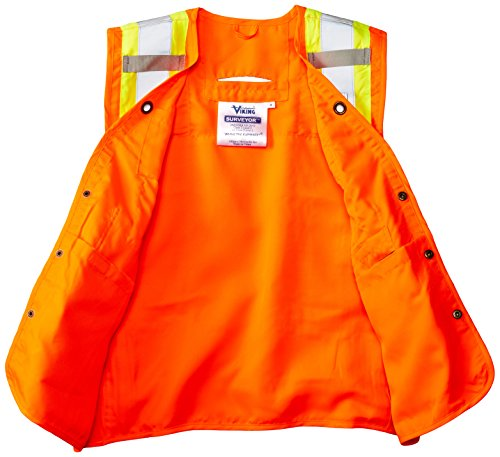 Viking Surveyor Hi-Vis Safety Vest, Orange, XX-Large by Viking (Image #3)