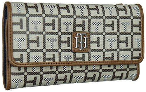 Tommy Hilfiger Women's Double Zip Around Wallet, Wristlet