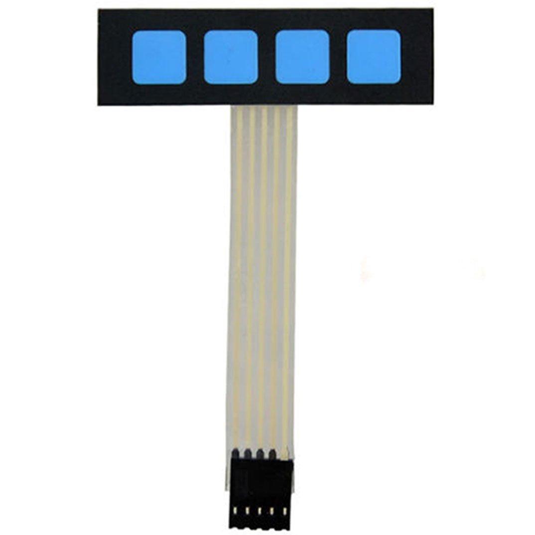 Super Slim 1x4 Matrix 4 Key Membrane Switch Control Keyboard Keypad For Arduino daier E995
