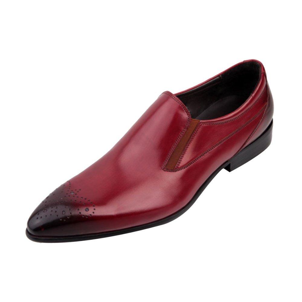 DHFUD Britische Männer Spitzen Lederschuhe Setzen Fuß Geschäft-Party-Schuhe
