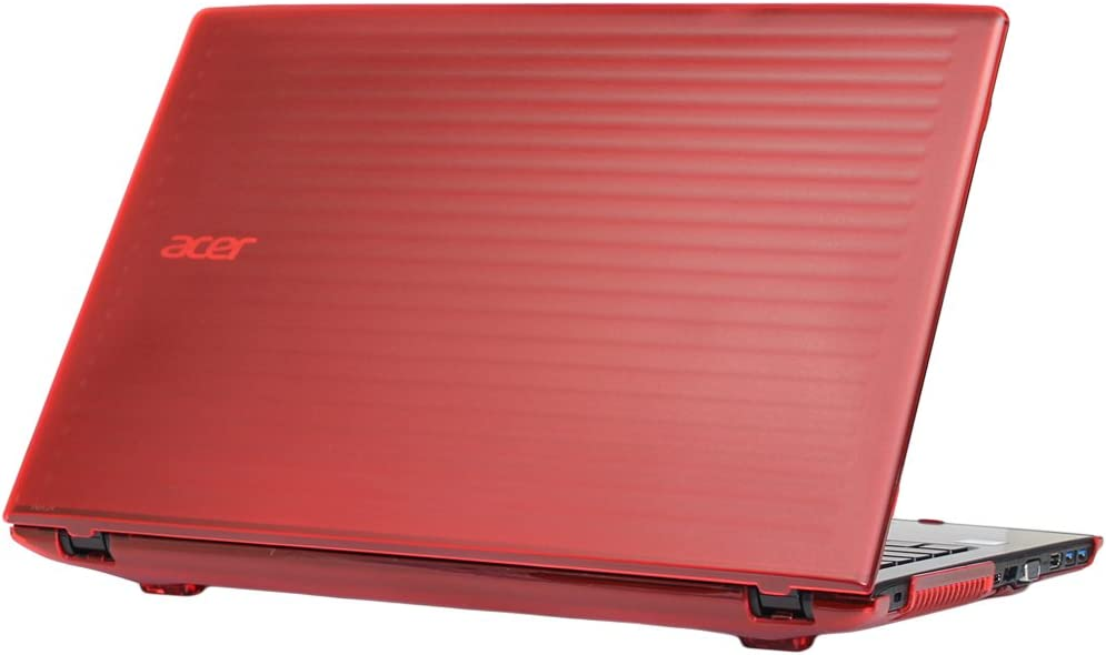 "mCover Hard Shell Case for 15.6"" Acer Aspire E 15 E5-575 / E5-576 Series Windows Laptop (Red)"