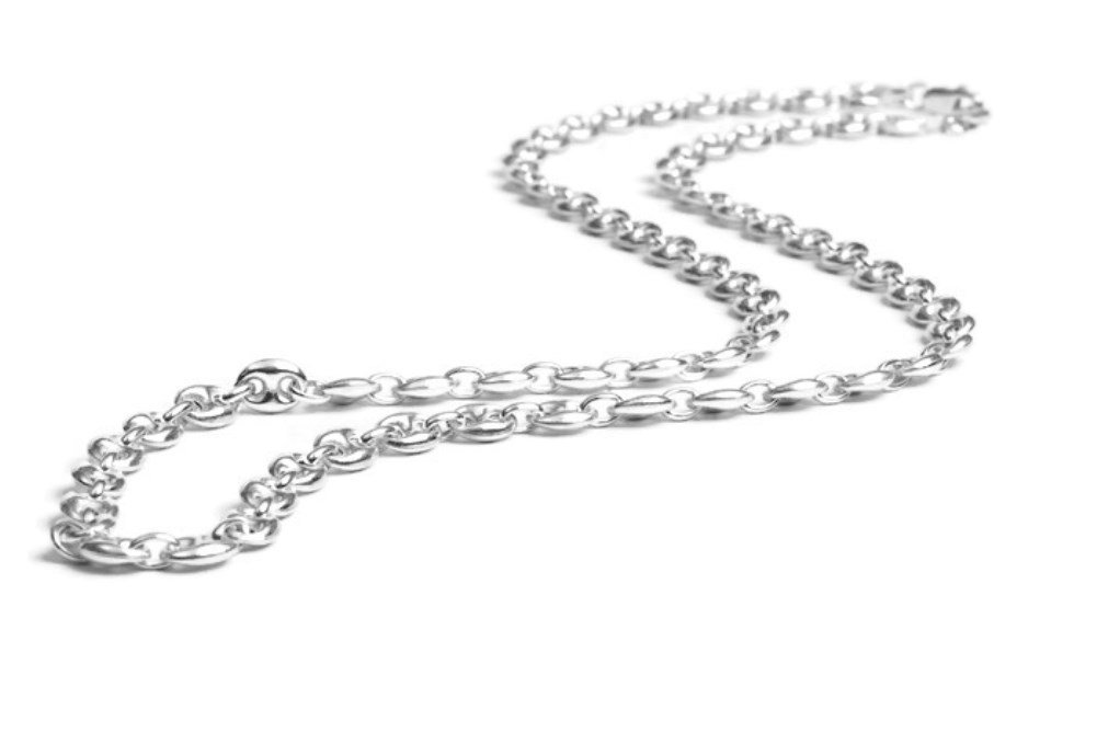 Silver Eyeglass Chain for Glasses, Sterling Silver Eyeglass Holder for Men and Women (4mm)