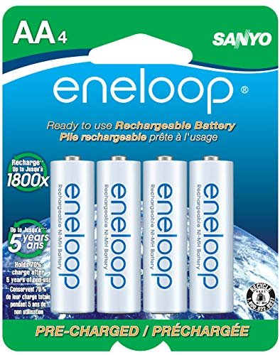 (eneloop AA 2100 cycle, Ni-MH Pre-Charged Rechargeable Batteries, 4 Pack)