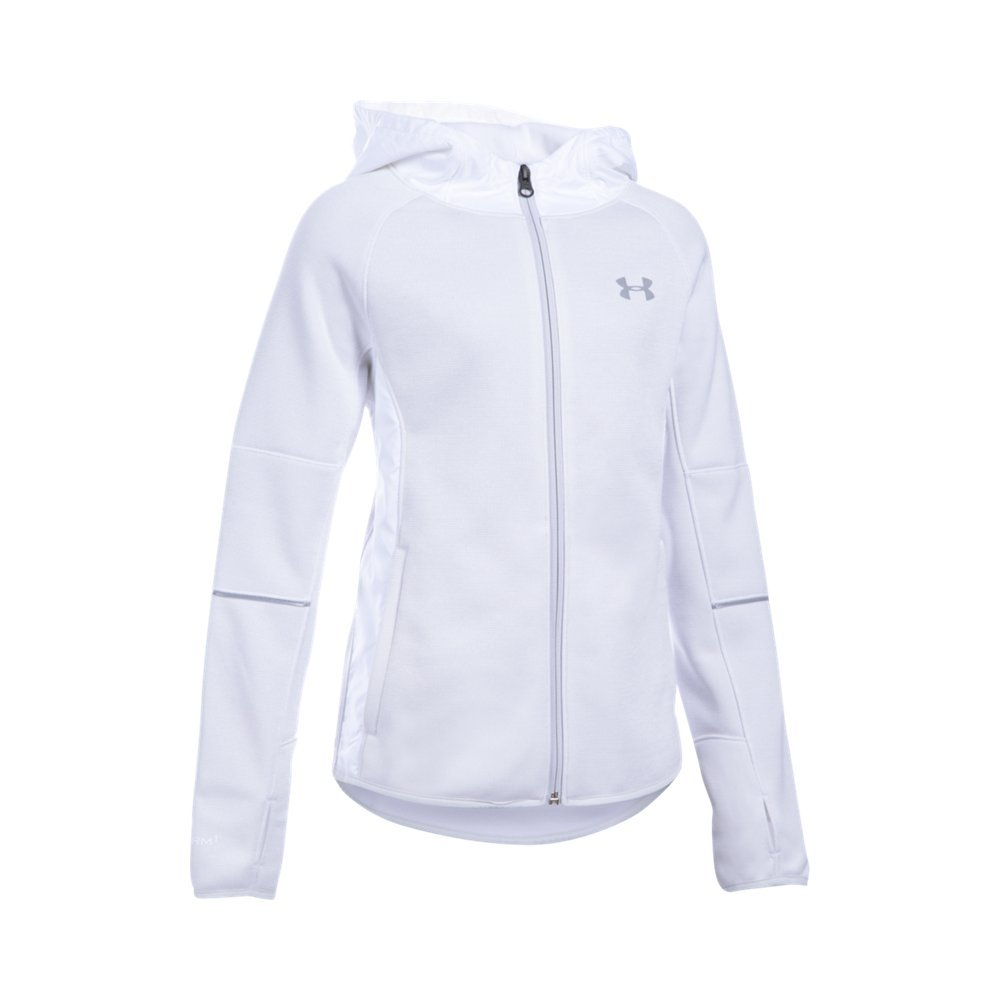 Under Armour Girls' Swacket, White/White, Youth Small by Under Armour