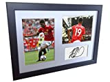 Signed Black Soccer Marcus Rashford Manchester United Autographed Photo Photographed Picture Frame A4 12x8 Football Gift