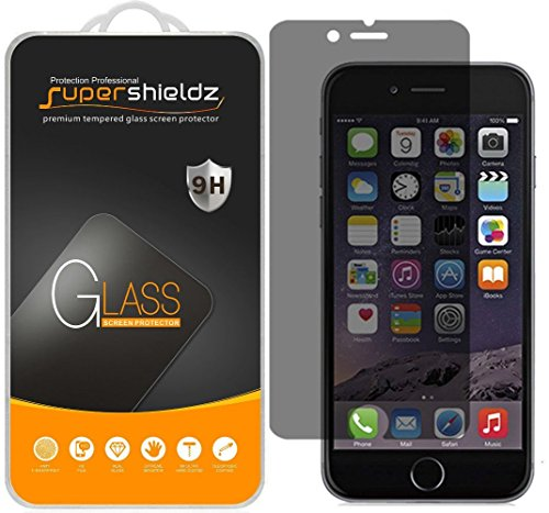 [2-Pack] Supershieldz for Apple iPhone 6S Plus/iPhone 6 Plus (Privacy) Anti-Spy Tempered Glass Screen Protector, Anti-Scratch, Bubble Free, Lifetime Replacement (Best Iphone 6 Privacy Screen)