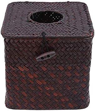 Straw Tissue Box Bamboo Rattan Napkin Holders Home Car Decorative Accessories