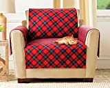 The Paragon Furniture Cover - Chair Furniture Protector, Soft Plaid Fleece Furniture Protector Shields Fabric from Stains and Every Day Wear
