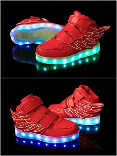 Aidonger - Zapatillas de running para niño Rojo