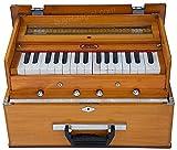 BINA 23B Deluxe, Harmonium, 2 1/2 Octaves, 32 Keys, Small, Portable, Compact, Special Reeds, Safri, Natural Color, Bag, Book, Kirtan, Musical Instrument Indian (PDI-DAA)