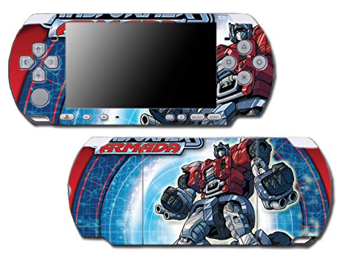 Transformers Optimus Prime Armada Cartoon Comic Animated Video Game Vinyl Decal Skin Sticker Cover for Sony PSP Playstation Portable Slim 3000 Series System