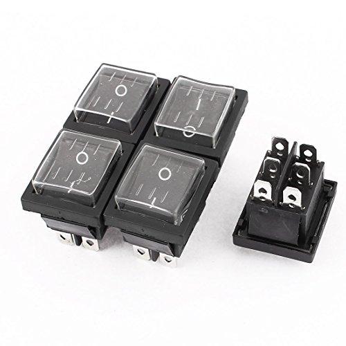 eDealMax a15083100ux0748 DPDT ON-Off del interruptor Barco Rocker Con el casquillo a prueba de agua, DE 5 piezas, AC 250 V, 16 Amp, 125 V, 20 Amp