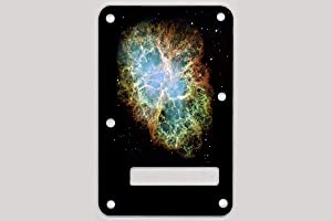 Custom Graphical Tremolo Cover Back Plate to fit Fender Strat Stratocaster Nebula 1