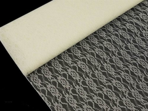 BalsaCircle 60-Inch x 10 Yards Ivory Lace Fabric by The Bolt - Wedding Party Decorations Sewing DIY Crafts Costumes Supplies