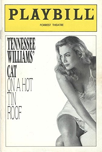 Playbill, Forrest Theatre: Tennessee Williams' Cat on a Hot Tin Roof, March 1990 (Kathleen Turner, Charles Durning, Polly Holliday) (Kathleen Turner Cat On A Hot Tin Roof)