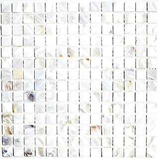 Mosaik Fliese Muschel Perlmutt Für WAND BAD WC DUSCHE KÜCHE FLIESENSPIEGEL  THEKENVERKLEIDUNG BADEWANNENVERKLEIDUNG Mosaikmatte Mosaikplatte