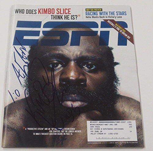KIMBO SLICE SIGNED ESPN THE MAGAZINE UFC MMA AUTHENTIC AUTOGRAPH COA