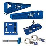 Kreg Slide Mounting Tool, Cabinet Hardware Jig, Hinge Jig & Bit With 2 Face Clamps