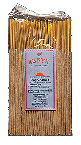 Nag Champa Incense Sticks Bundle From Surya Incense Company by Surya Incense