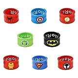Slap Bracelets for Kids Party Supplies Favors Boy's Wristband Accessories Wrist Strap Gift Supplies 8PCS