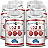 Research Verified CoQ10-100% Pure Extra Strength 250mg CoQ10 – Improved Absorption and Bioavailability with Bioperine - Boost Antioxidant Levels, Improve Cardiovascular Health, 360 Vegan Capsules