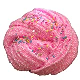 Hot Sale Slime Toys! Neartime Fluffy Floam Slime Scented Stress Relief No Borax Kids Toy Sludge Toy (Pink, FREE)