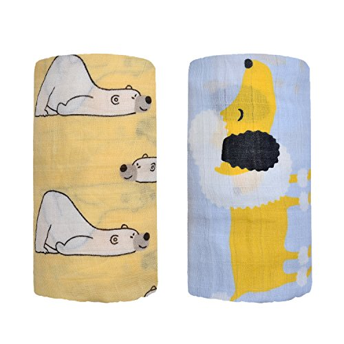 Bamboo Muslin Swaddle Square Blankets product image