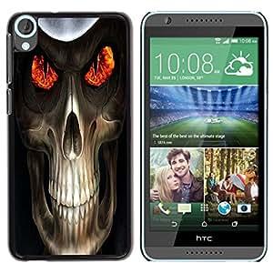 Be Good Phone Accessory // Dura Cáscara cubierta Protectora Caso Carcasa Funda de Protección para HTC Desire 820 // Evil Skull Death Reaper