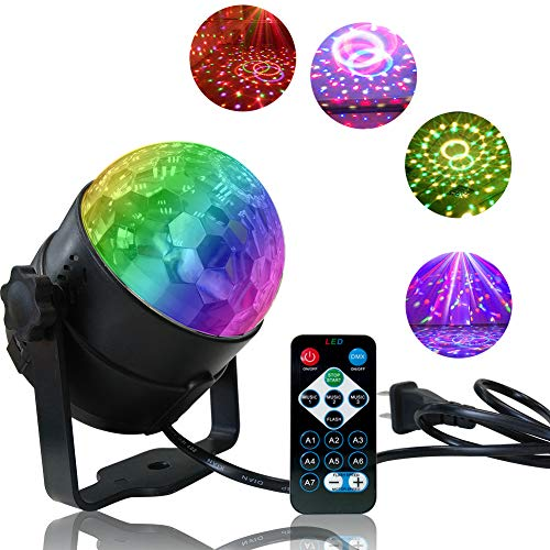 Disco Light Disco Ball Party Strobe Light, Sound Activated Party Lights with Remote Control for Dance Parties, Halloween, Christmas,Party,Gift,Birthday,Celebration,Decorations,Home,Karaoke,DJ,Bar -