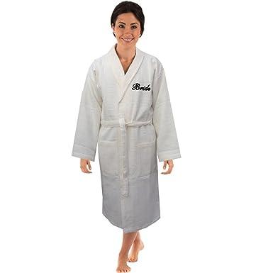 Amazon.com: Bang Tidy Clothing Waffle Personalised Dressing Gown ...