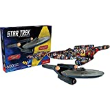 Star Trek Ship and Collage 600 Piece Puzzle by Aquarius