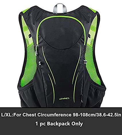 XUSHSHBA 5L Outdoor Sport Trail Running Backpack Marathon Trail Running Hydration Vest Pack for 1.5L