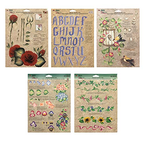Donna Dewberry One Stroke Painting Instruction Reusable Teaching Paint Folk Art Double Sided Sheets Pack of ()