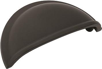 """Amerock Cup 3/"""" Flat Black Kitchen Cabinet Drawer Door Handle Pull BP53010FB"""