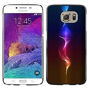 Shell-Star Arte & diseño plástico duro Fundas Cover Cubre Hard Case Cover para Samsung Galaxy S6 / SM-G920 / SM-G920A / SM-G920T / SM-G920F / SM-G920I ( Fire Glow )