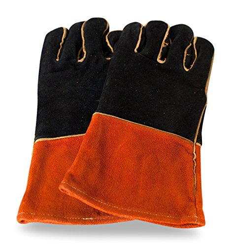 Welding Barbeque Gloves 135 by Sentinel Safety Equipment Extreme Heat Resistance Durable Flexible Comfortable Quality Leather Kevlar Stitching Perfect Gloves for Welders BBQ Gardening