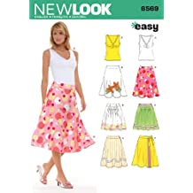 New Look Sewing Pattern 6569 Misses Skirts, Size A (8-10-12-14-16-18)