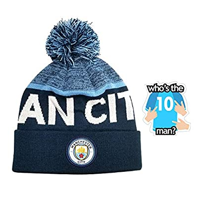 Manchester City Beanie Winter hat for Mens Adults New Season Set 2 pcs 2019 2020 Official Licensed Set mc013