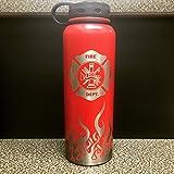 Firefighter gifts, Fireman, Fireman gift, firefighter gifts, Fiftyfifty, Water bottle, 40oz water bottle, Fireman, Fireman gift, workout, fitness, flames, Engraved growler.