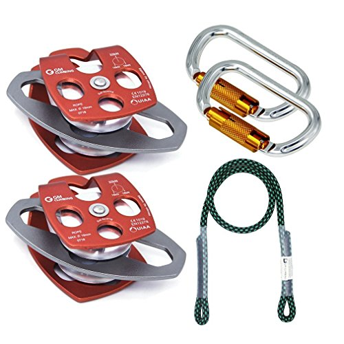 - GM CLIMBING Hardware Kit for 5:1 Mechanical Advantage Pulley / Hauling / Dragging System Block and Tackle Twist Lock