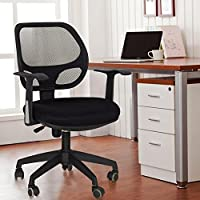 Adeco Back-To-School Sale! Black Deluxe Support High Back Cushioned Office Desk Chair, Home, School Computer Room