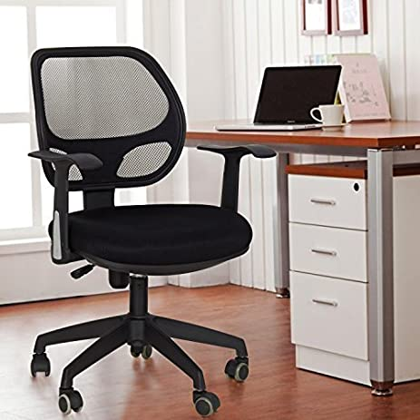 Adeco Back To School Sale! Black Deluxe Support High Back Cushioned Office  Desk